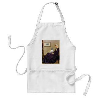 Pug 18 (fawn) - Whistler's Mother Adult Apron