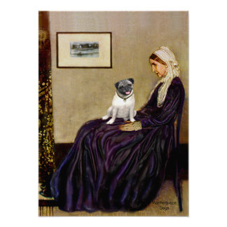 Pug 18 (fawn) - Whistlers Mother Posters