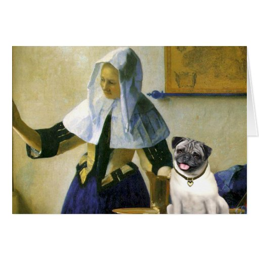 Pug 18 (fawn) - Woman with Pitcher Cards