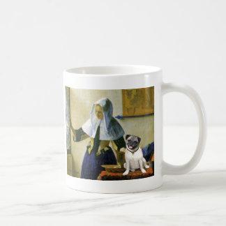 Pug 18 (fawn) - Woman with Pitcher Coffee Mug