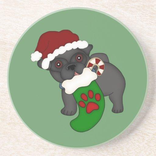 Pug #1 Christmas Coaster