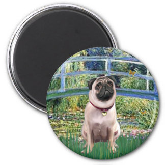 Pug 1 (fawn) - Bridge 2 Inch Round Magnet