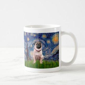 Pug 1(fawn)  - Starry Night Coffee Mug