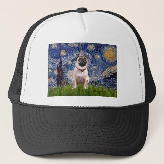 Pug 1(fawn)  - Starry Night Trucker Hat