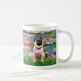 Pug 1 - Lilies 2 Coffee Mug