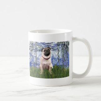Pug 1 - Lilies 6 Coffee Mug