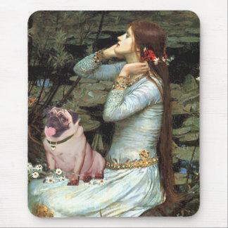 Pug 2 (fawn) - Ophelia Seated Mouse Pad