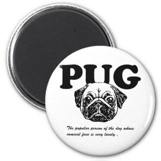 Pug 2 Inch Round Magnet