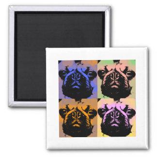 Pug 2 Inch Square Magnet