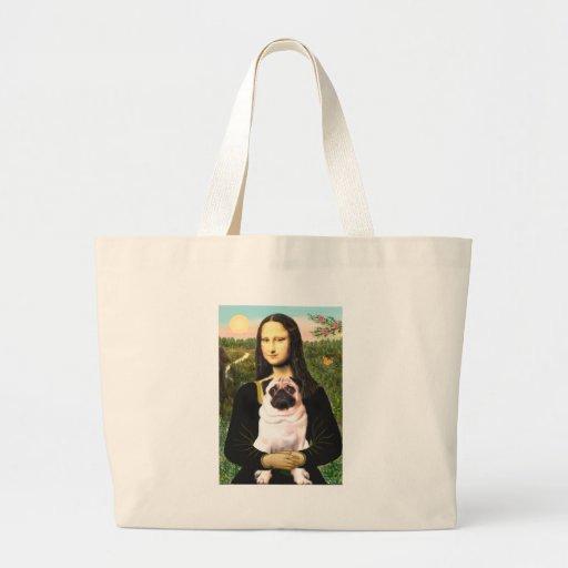 Pug 3 (fawn) - Mona Lisa Bag