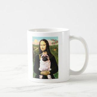 Pug 3 (fawn) - Mona Lisa Coffee Mug