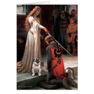Pug 5 (fawn) - The Accolade Greeting Card