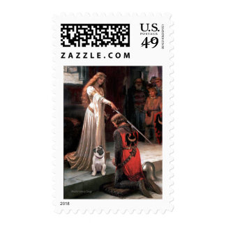 Pug 5 (fawn) - The Accolade Stamps