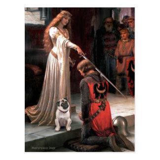 Pug 5 (fawn) - The Accolade Postcard