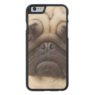 pug-7 carved® maple iPhone 6 slim case