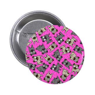 Pug-a-Dot (Pink) 2 Inch Round Button