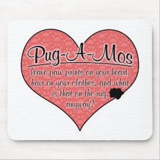 Pug-A-Mo Paw Prints Dog Humor Mousepad