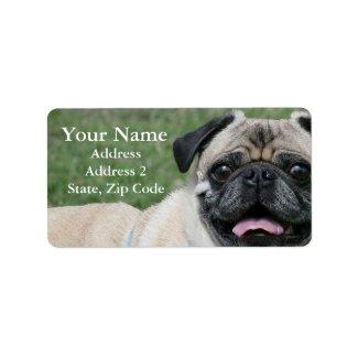 Pug Face Address Labels