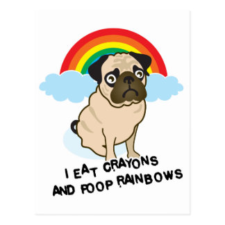 Pug admits to pooping rainbows! Card