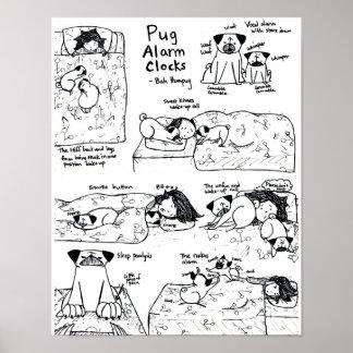 Pug Alarm Clocks Poster