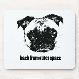 pug alien - back from outer space mouse pad