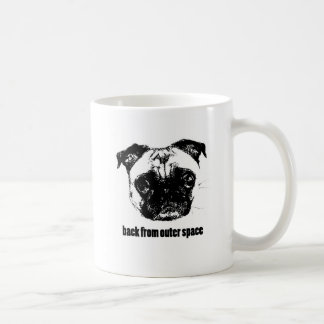 pug alien - back from outer space classic white coffee mug