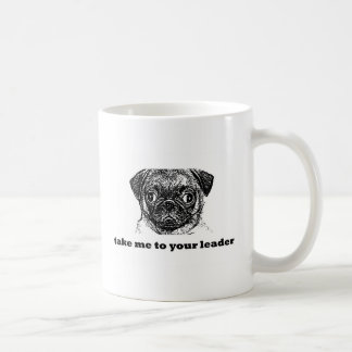 pug alien -take me to your leader copy coffee mug