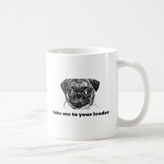 pug alien -take me to your leader copy coffee mug