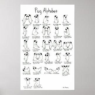Pug Alphabet A-Z with Rhyme Print