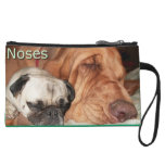Pug and Bloodhound Noses Clutch Purse Wristlet Clutch
