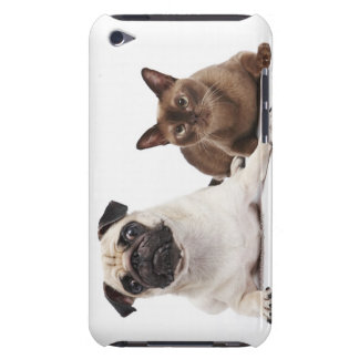 Pug and Burmese cat Barely There iPod Cover