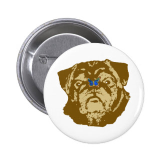 Pug and Butterfly Buttons