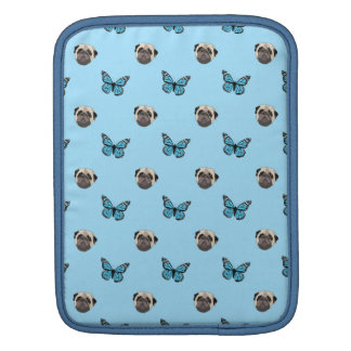 Pug and butterfly iPad sleeves