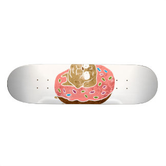 pug and donut. skateboard