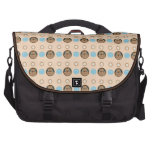 Pug and Paw patterns Commuter Bag