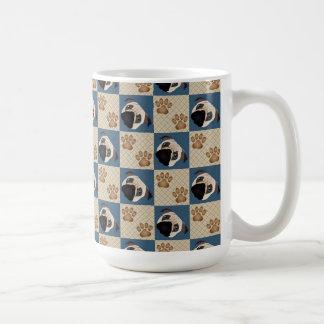 Pug and Paws Quilt Classic White Coffee Mug