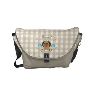 Pug and paws small messenger bag