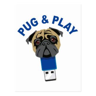 Pug and Play Postcard