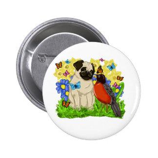 Pug and Robin - Spring Pug - 2009 - Customize Pinback Button