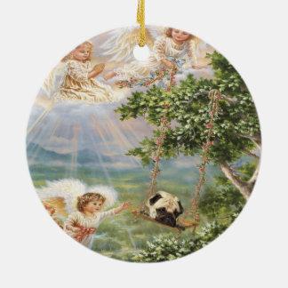 Pug  Angel Ornament