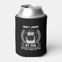 Pug Animal Can Cooler