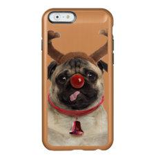 Pug antlers - christmas pug - merry christmas incipio feather shine iPhone 6 case