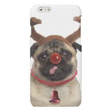 Pug antlers - christmas pug - merry christmas matte iPhone 6 case