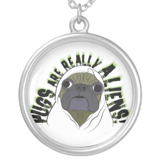 pug are really saliens round pendant necklace