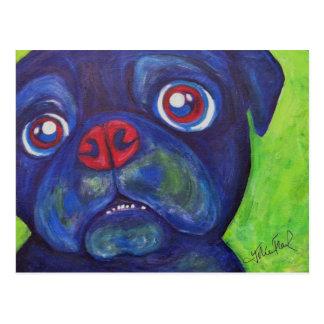 "Pug Art ""Pugsly Enthusiasm"" Postcard"