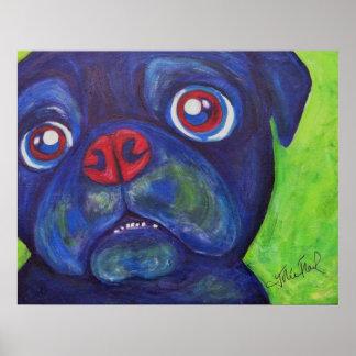 "Pug Art ""Pugsly Enthusiasm"" Print"