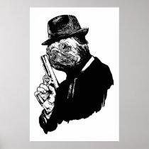 Pug Assassin Print