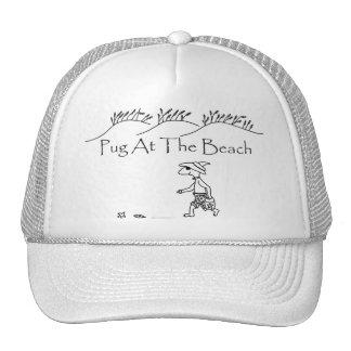Pug At The Beach Trucker Hat