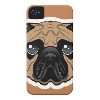 Pug Avatar Face Vector iPhone 4 Case