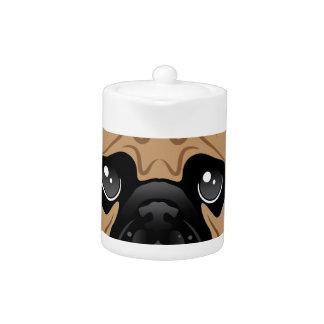 Pug Avatar Face Vector Teapot